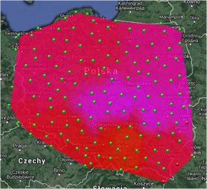 efekt działania burzy słonecznej na pracę z GNSS
